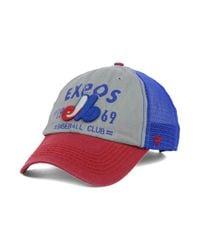 Lyst - 47 Brand Montreal Expos Flathead Cap in Blue for Men 7f8ed7ca0e6e