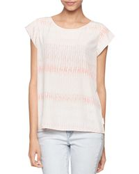 Calvin Klein Jeans | Pink Speckled Top | Lyst