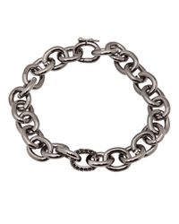 Eddie Borgo | Metallic Small Pave Link Chain Bracelet | Lyst