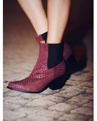 Free People | Red Jeffrey Campbell + Womens New Frontier Boot | Lyst