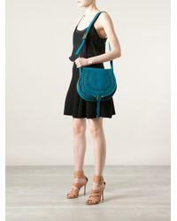 Chloé - Blue Marcie Shoulder Bag - Lyst