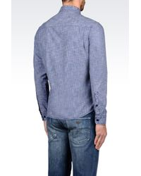 Armani Jeans | Blue Cotton Shirt for Men | Lyst