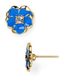 kate spade new york | Blue Beach House Bouquet Mini Stud Earrings | Lyst