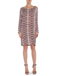 Part Two - Red Digital Printed Tunic Dress - Lyst
