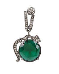 BCBGMAXAZRIA - Green Vintage-Inspired Gemstone Earrings - Lyst