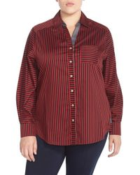 Foxcroft | Red 'sateen Stripe' Shirt | Lyst