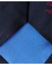 Richard James | Blue Navy Tribal Lama Tie for Men | Lyst