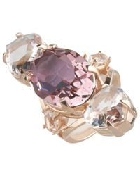 Cabinet | Pink Gold Plated Swarovski Crystal Erinus Ring | Lyst
