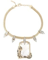 Roberto Cavalli | Metallic Swarovski Crystal Chain Necklace | Lyst