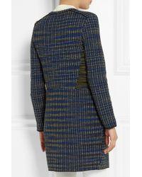 M Missoni | Blue Collarless Bouclã©-Tweed Coat | Lyst