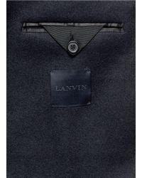 Lanvin - Blue Contrast Sleeve Felt Blazer for Men - Lyst