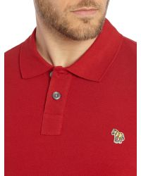 Paul Smith - Red Exclusive Zebra Regular Fit Logo Polo for Men - Lyst