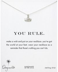 Dogeared | Metallic 'you Rule' Necklace | Lyst