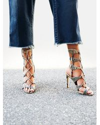 Free People - Natural J/slides Womens Centennial Lace Up Heel - Lyst