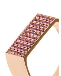 DINA KAMAL DK01 - Pink Sapphire & Yellow-Gold Id Ring - Lyst