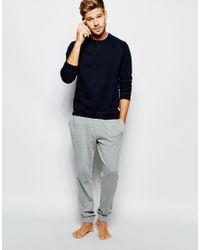 Ted Baker - Blue Long Sleeve Regular Fit Lounge Sweat Top for Men - Lyst