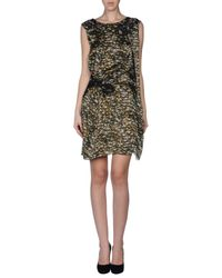 Philosophy di Alberta Ferretti - Green Short Dress - Lyst