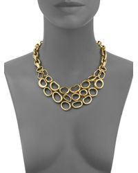 Vaubel | Metallic Hammered Oval Bib Necklace | Lyst