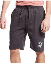 LRG | Black Big & Tall Rc Flag Fleece Shorts for Men | Lyst