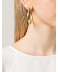 Vaubel - Metallic Medium Chunky Hoop Earrings - Lyst