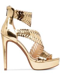 Jessica Simpson | Metallic Azure Platform Dress Sandals | Lyst