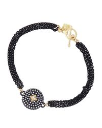 Armenta | Black Diamond Cross Circle Station Bracelet | Lyst