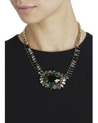 Anton Heunis - Metallic Gold Plated Swarovski Crystal Necklace - Lyst