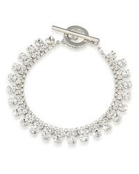 Carolee - Metallic Broadway Lights Drop Crystal Bracelet - Lyst
