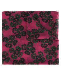Saint Laurent - Pink Floral Print Scarf - Lyst