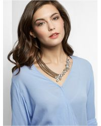 BaubleBar | Metallic Crystal Triangulum Collar | Lyst