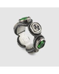 Gucci | Green Ring With Swarovski Crystals | Lyst