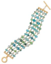 Carolee | Metallic Gold-tone Multi-row Beaded Bracelet | Lyst