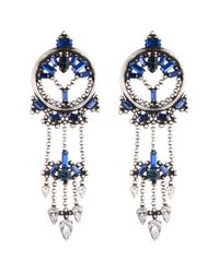DANNIJO | Blue Claudia Earrings | Lyst