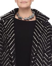 Marina Rinaldi | Black Lucilla Geometric Ball Necklace | Lyst