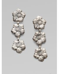 Buccellati - Metallic Blossom Sterling Silver Triple Drop Earrings - Lyst