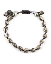 Joseph Brooks | Metallic Skull Bead Bracelet for Men | Lyst