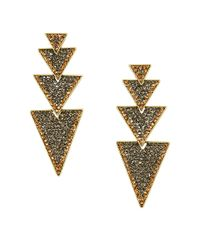 BCBGMAXAZRIA | Metallic Goldtone Layered Triangle Earrings | Lyst