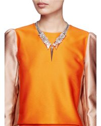 Erickson Beamon | Metallic Bullet Pendent Crystals Embellished Chain Necklace | Lyst