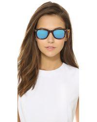 Ray-Ban - Blue Icons Wayfarer Sunglasses - Havana Striped/silver Mirror - Lyst