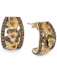 Le Vian | Yellow Chocolatier Chocolate Diamond And White Diamond Earrings (1-3/4 Ct. T.w.) In 14k Gold | Lyst