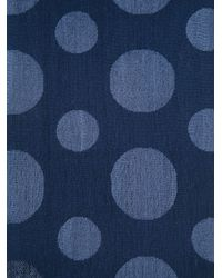 Paul Smith - Blue Polka Dot Scarf for Men - Lyst