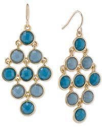 Carolee - Metallic Gold-tone Mini-circle Chandelier Earrings - Lyst