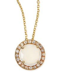 KALAN by Suzanne Kalan - Metallic 6mm Moonstone & White Sapphire Pendant Necklace - Lyst