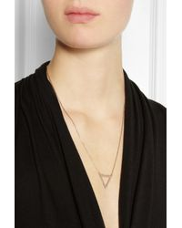 Maria Black | Metallic Vamp Rose Goldplated Triangle Necklace | Lyst