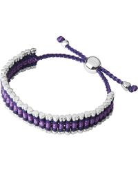 Links of London | Purple Cat Deeley Rainbow Friendship Bracelet | Lyst