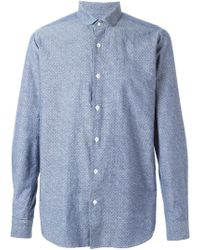 The Gigi | Blue Peter Pan Collar Shirt for Men | Lyst