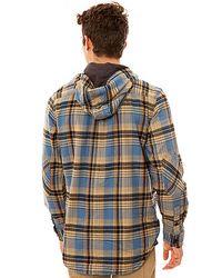 Vans - Blue The Loose Screw Iv Hooded Buttondown Shirt for Men - Lyst