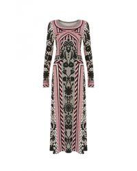 Temperley London - Pink Long Tishka Jersey Dress - Lyst