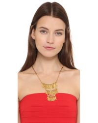Elizabeth Cole - Metallic Three Tiered Necklace - Lyst