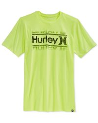 Hurley | Yellow Swim Premium T-shirt for Men | Lyst